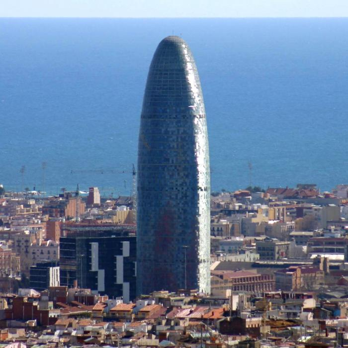 Ugliest tower building in the world: Torre Agbar, Barcelona