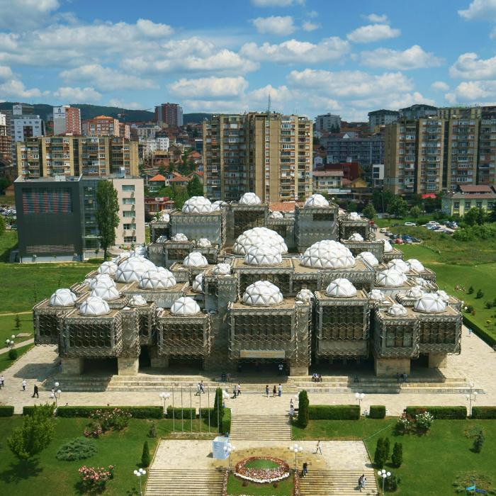 Ugliest library in the world: National Library Pristina, Kosovo