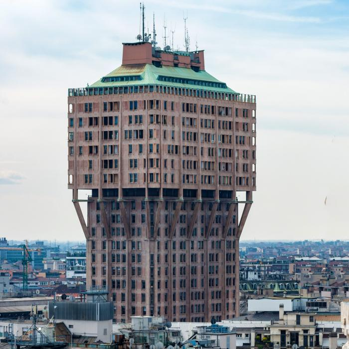 Ugliest tower in the world: Torre Velasca in Milan