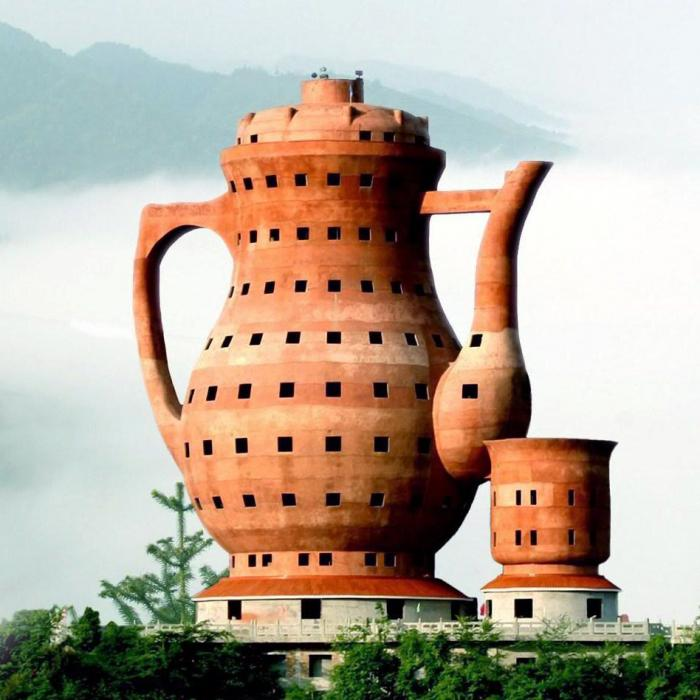 Ugliest Buildings In China   Meitan Tea Museum Pictures