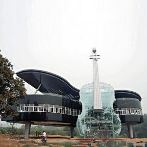 Ugliest houses - Grand Piano And Violin-Shaped House