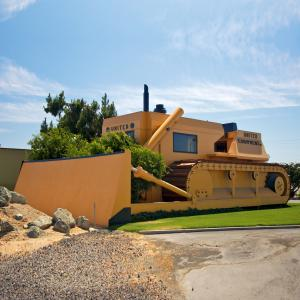 Ugliest office building in the world: United Equipment Company, Turlock, California